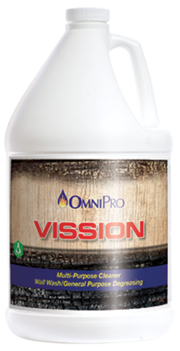 Vission Uses A Blend Of Green Surfactants And Alkaline Builders To Remove  Smoke Residues Off Of Painted Walls, Paneling And Wall Coverings.